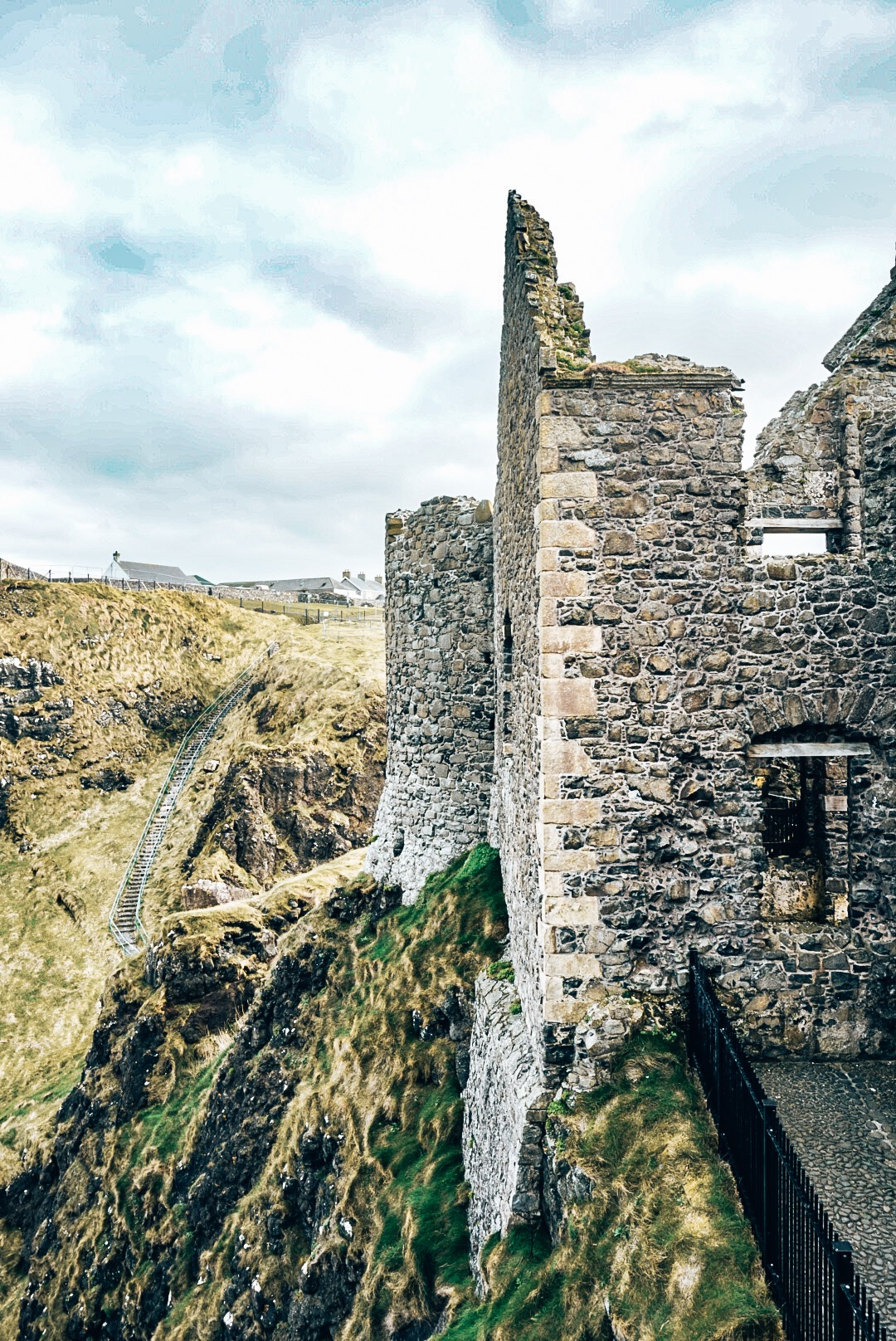 Another cliff view of Dunluce Castle