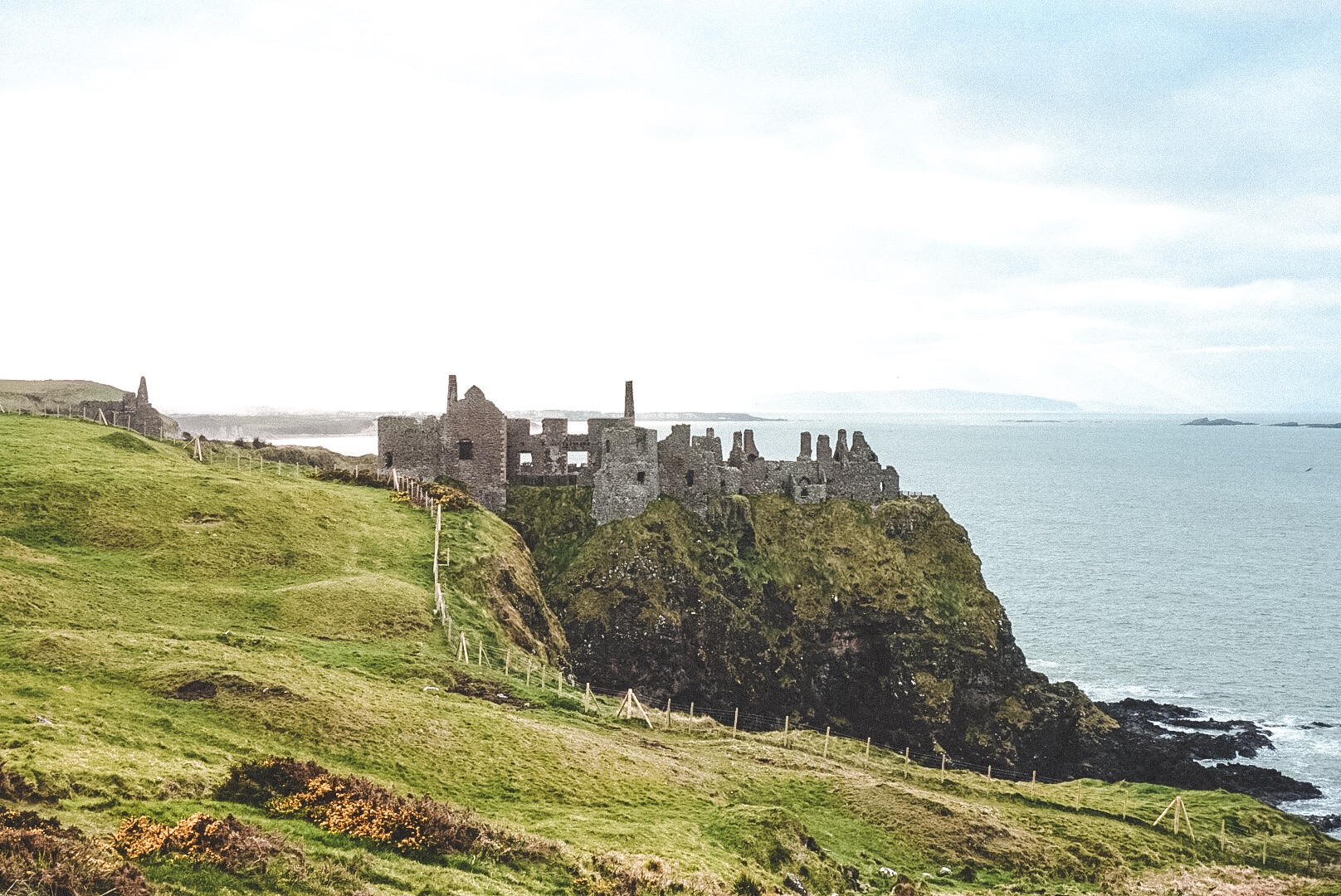 Dunluce Castle in the early evening