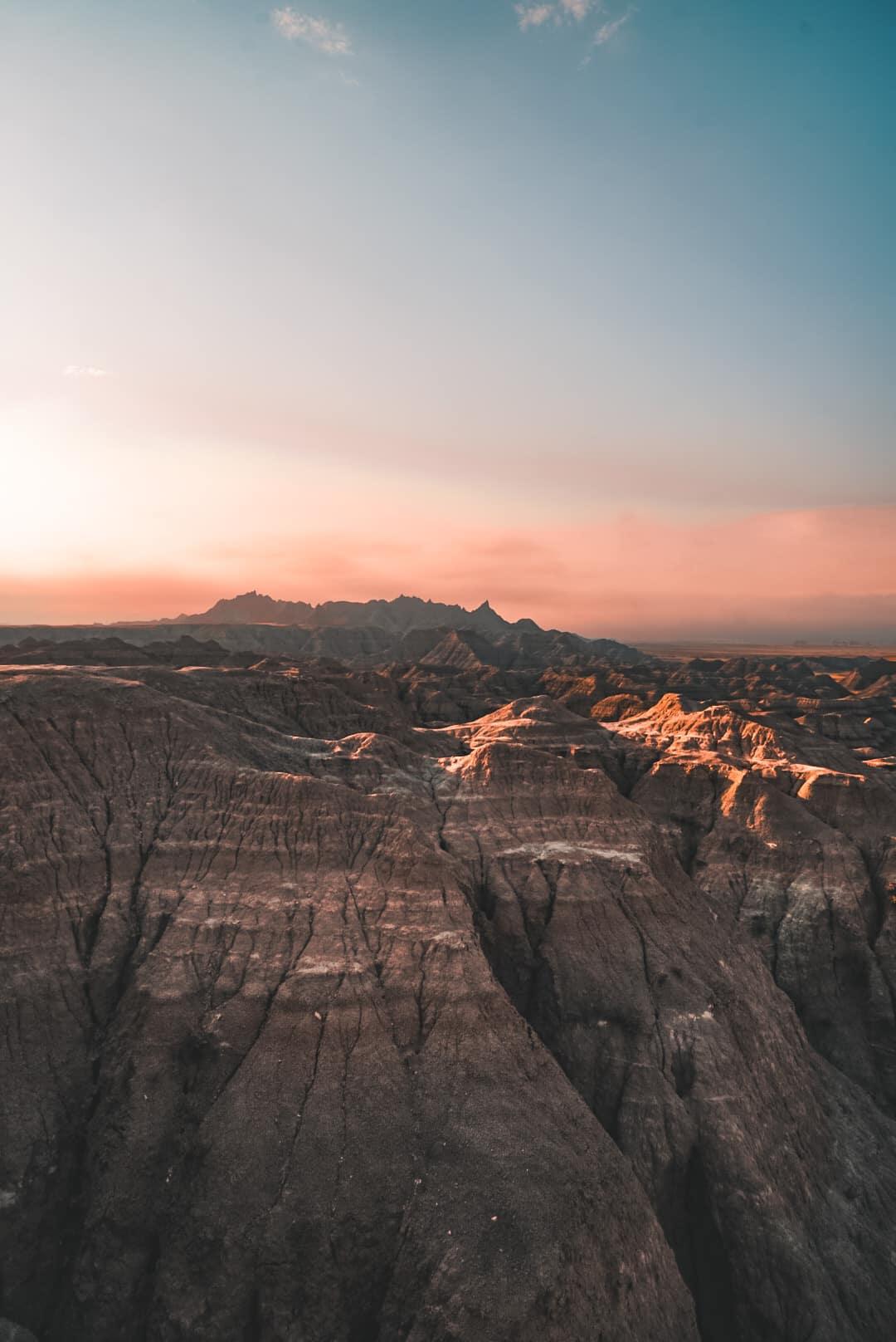 Badlands at sunrise