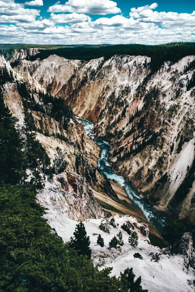 Grand Canyon in Yellowstone river