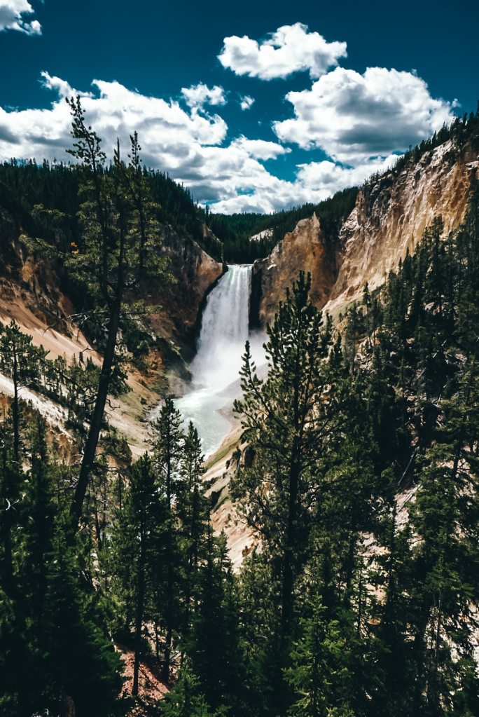 Grand Canyon in Yellowstone waterfall