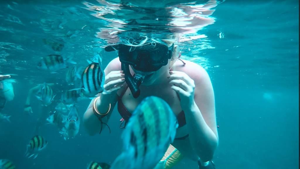 Snorkeling in Pi Leh Lagoon
