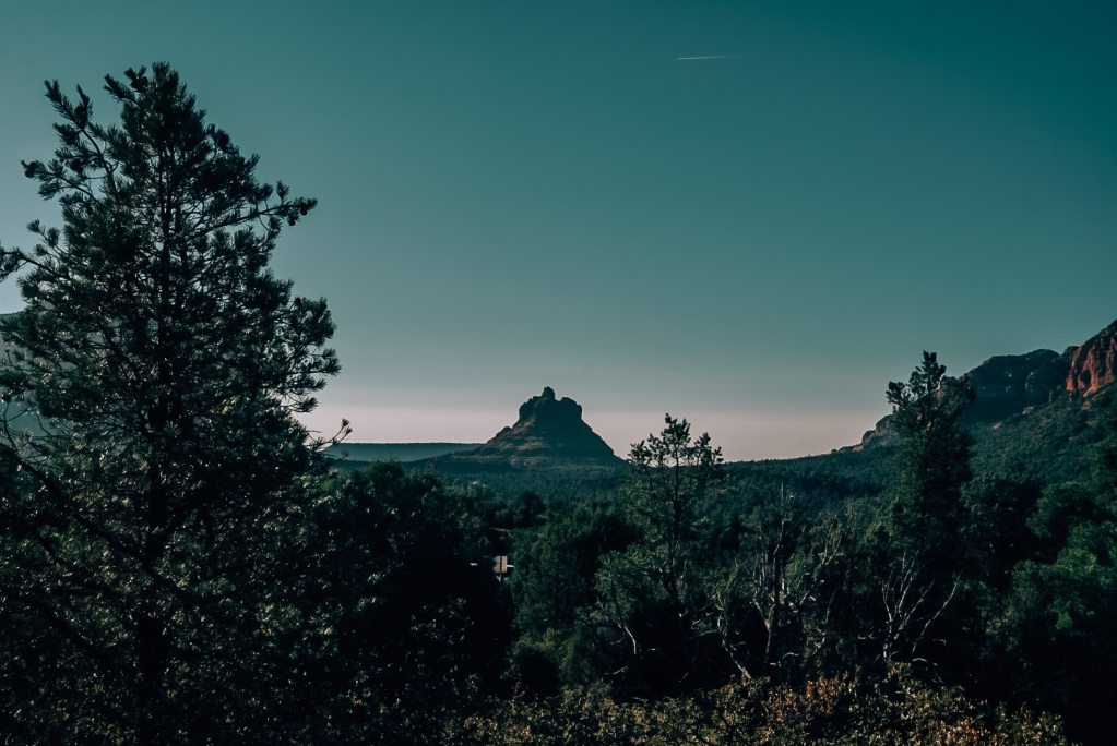 Bell Rock as the sun goes down in Sedona