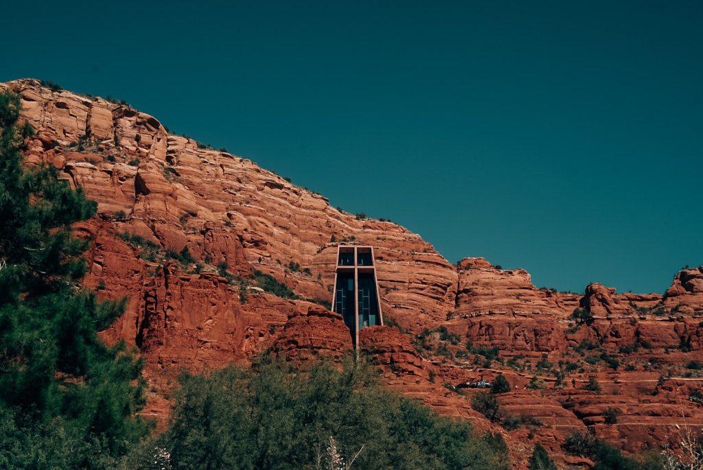 Sedona church in the rock