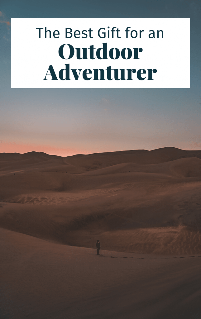 Pinterest cover for this article showing woman at Great Sand Dunes National Park
