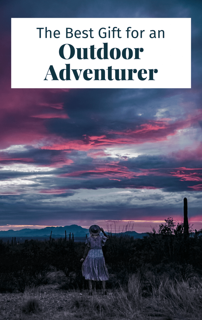 Pinterest cover for this article showing woman at Saguaro National Park