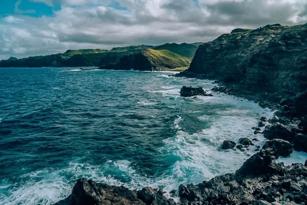 View of the coastline in Maui