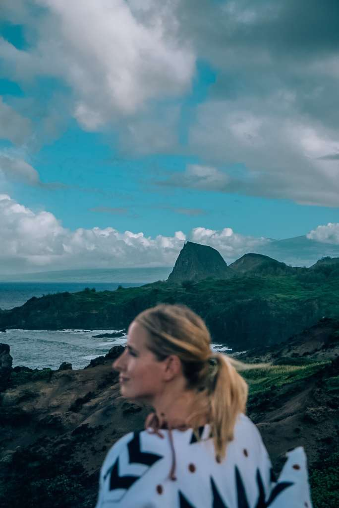 Woman standing in front of views from Ohai Loop Trail