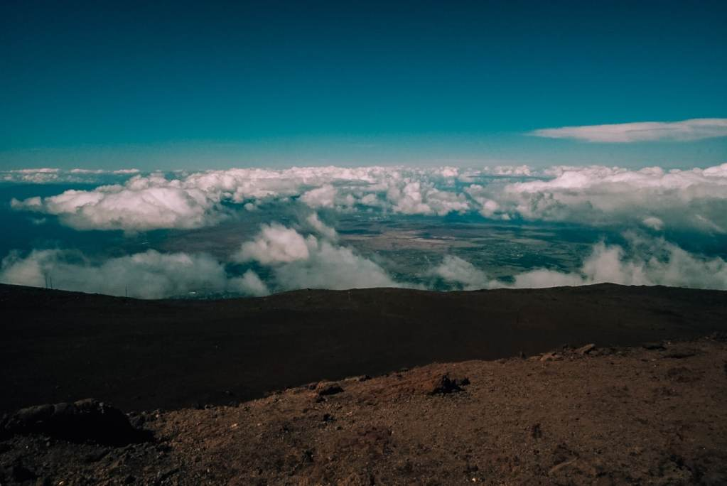 A view looking out of the crater of Haleakala