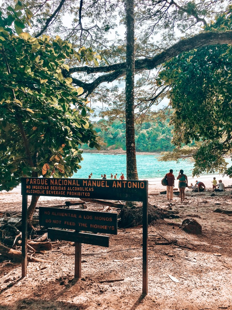 Entrance to the Manuel Antonio National Park beach
