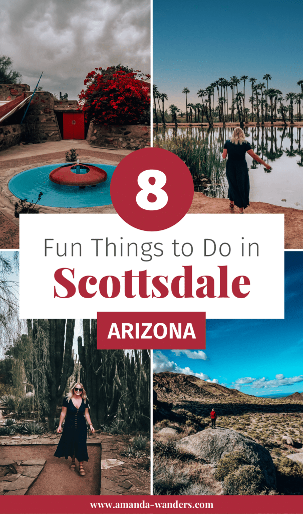Pin cover for Things to Do in Scottsdale blog post 1