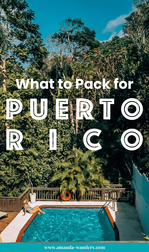 Pinterest cover for Puerto Rico packing list 1