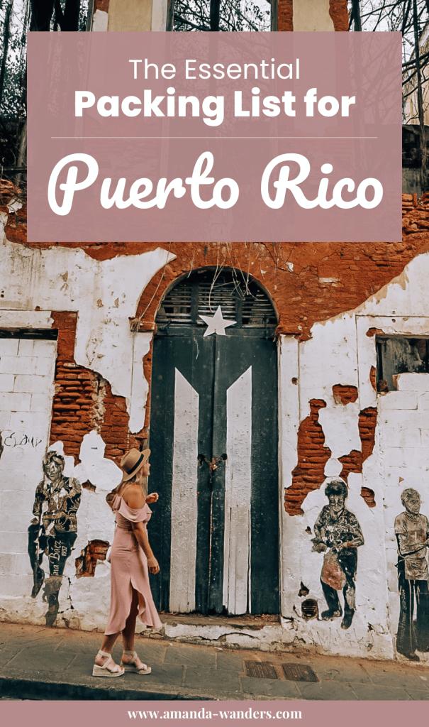 Pinterest cover for Puerto Rico packing list 4