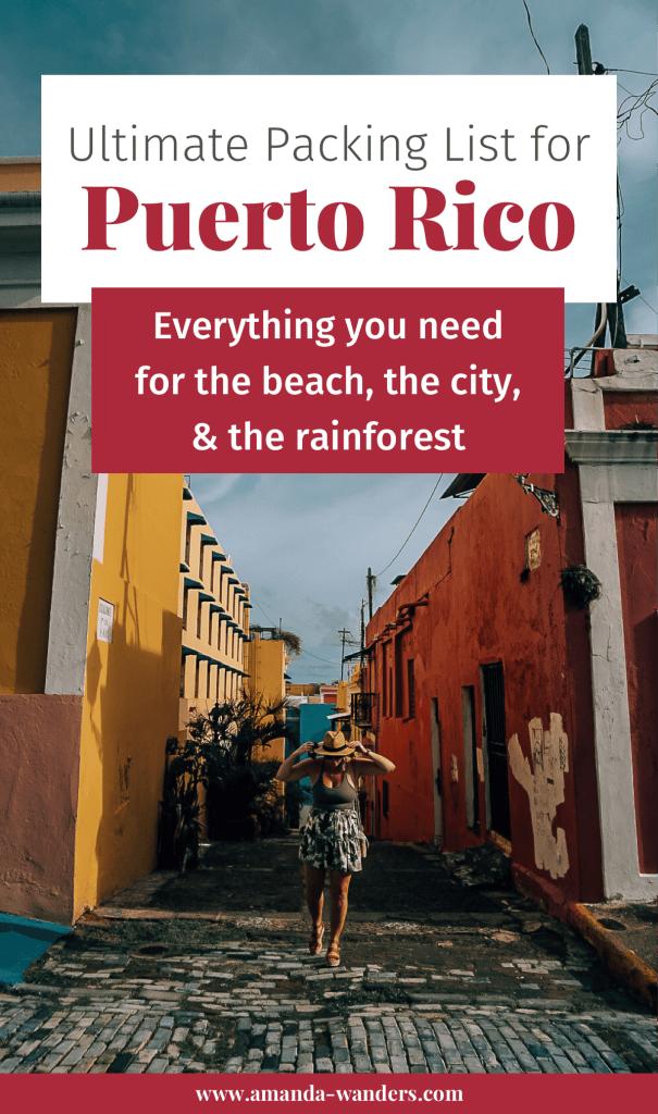 Pinterest cover for Puerto Rico packing list 3