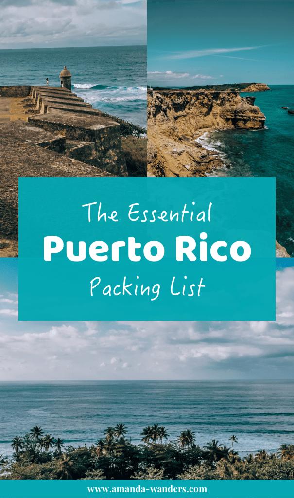 Pinterest cover for Puerto Rico packing list 2