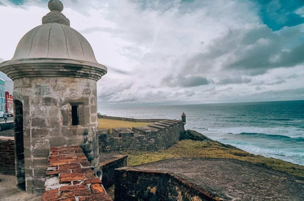 Coastline of Castillo San Cristobal in Old San Juan