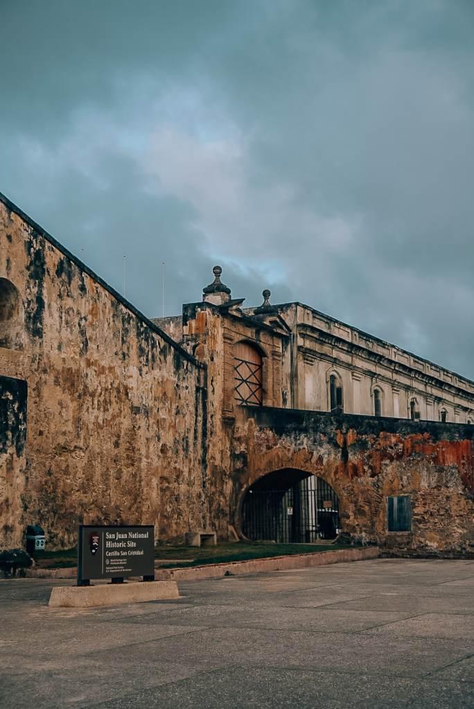 Castillo San Cristobal front entrance in Old San Juan