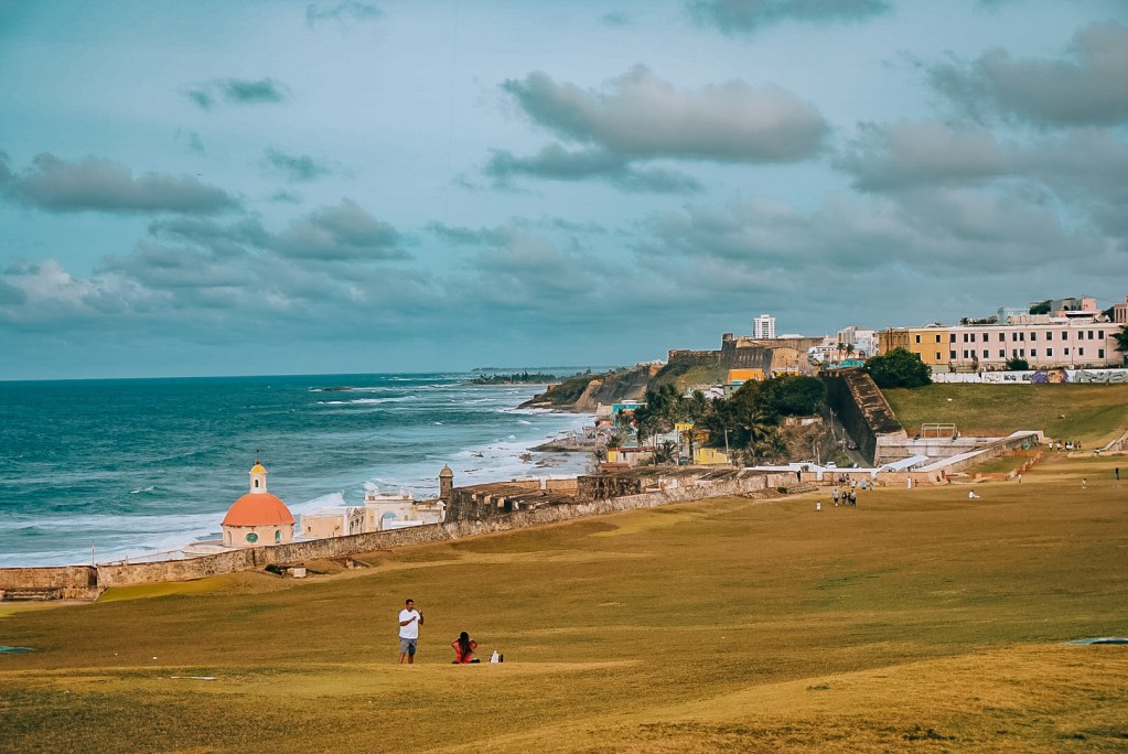 Looking out at the coastline from El Morro in Old San Juan