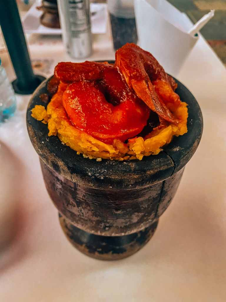 Shrimp mofongo in Old San Juan