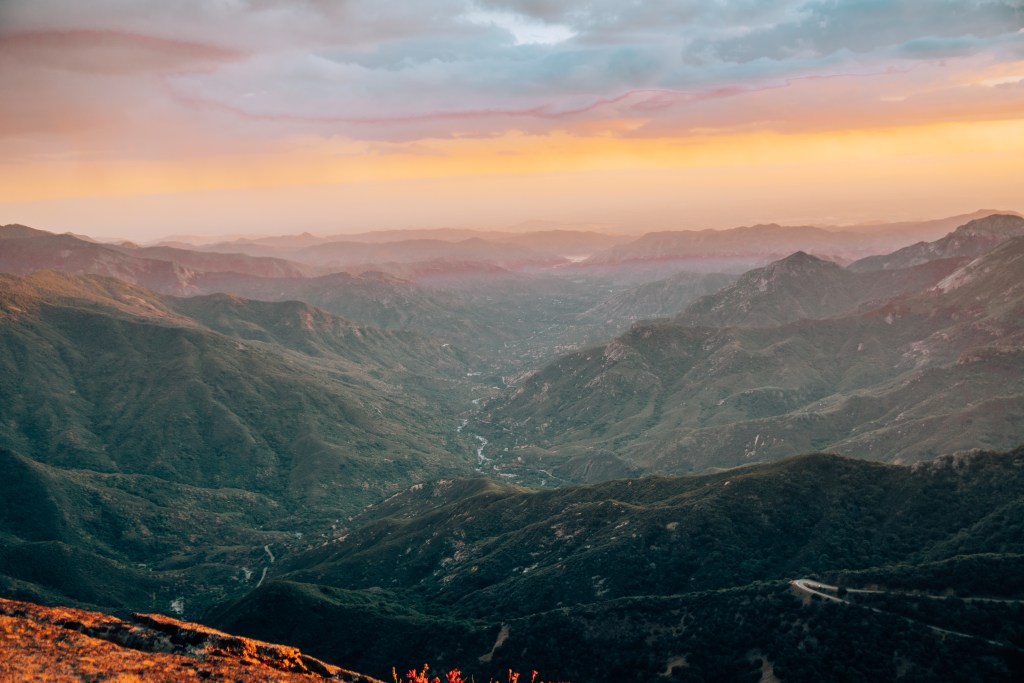Sunset from atop Moro Rock at Sequoia National Park