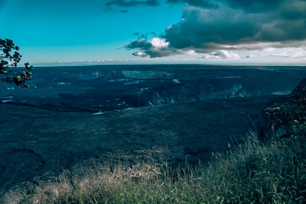 View of the Kilauea Caldera from the overlook above