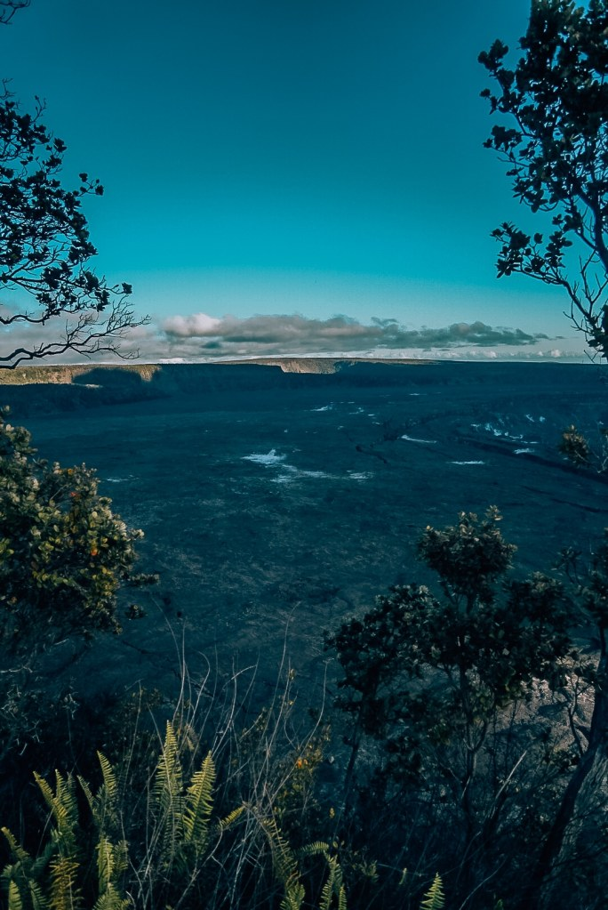 View of Kilauea Caldera from the overlook above