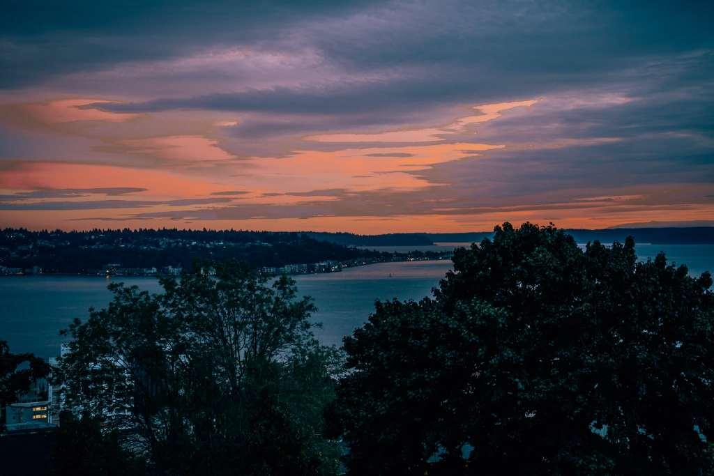 Seattle sunset from Betty Bowen Viewpoint